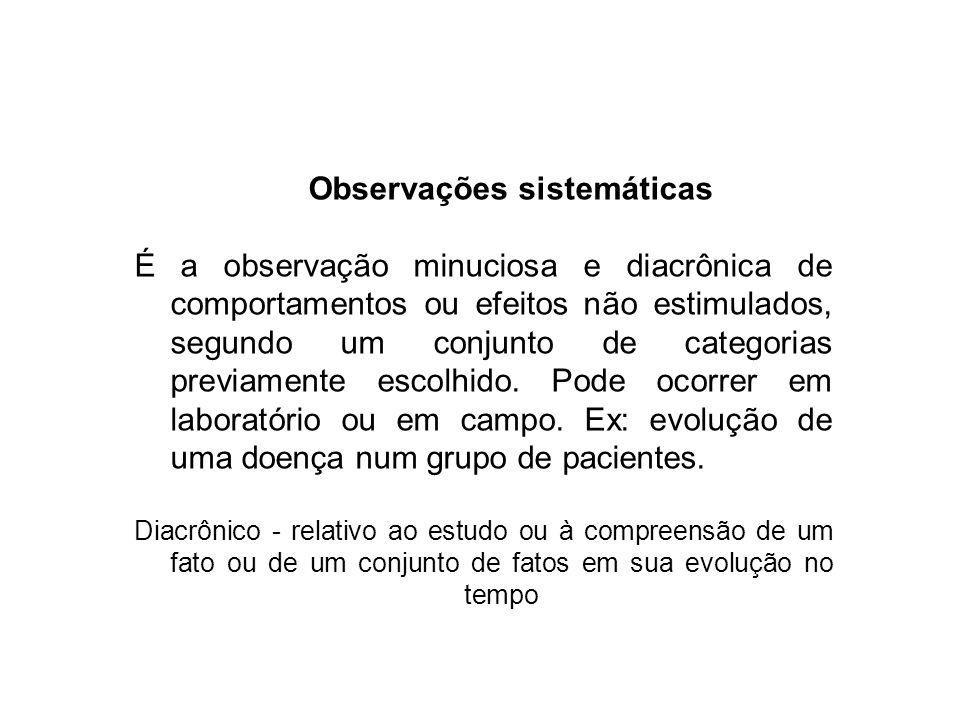 Observações sistemáticas