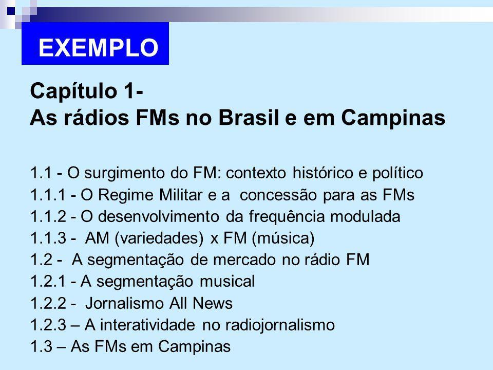 Capítulo 1- As rádios FMs no Brasil e em Campinas