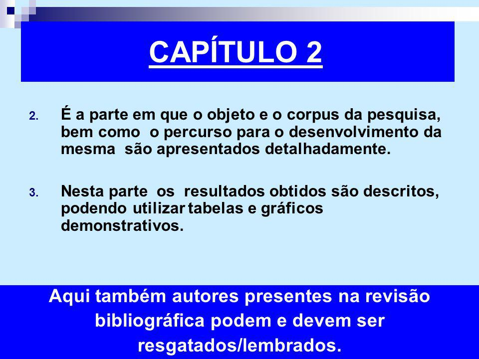 CAPÍTULO 2 Aqui também autores presentes na revisão