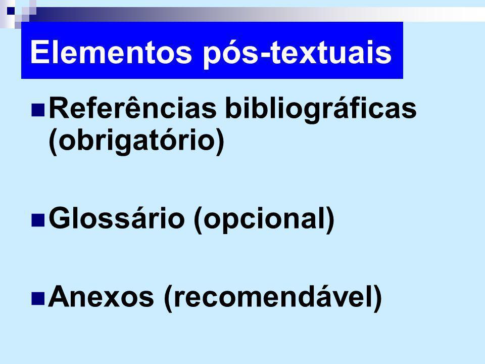 Elementos pós-textuais