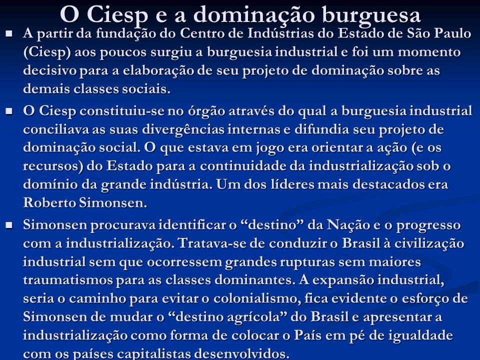 O Ciesp e a dominação burguesa