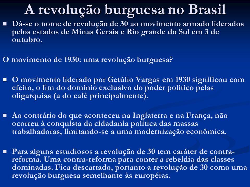 A revolução burguesa no Brasil