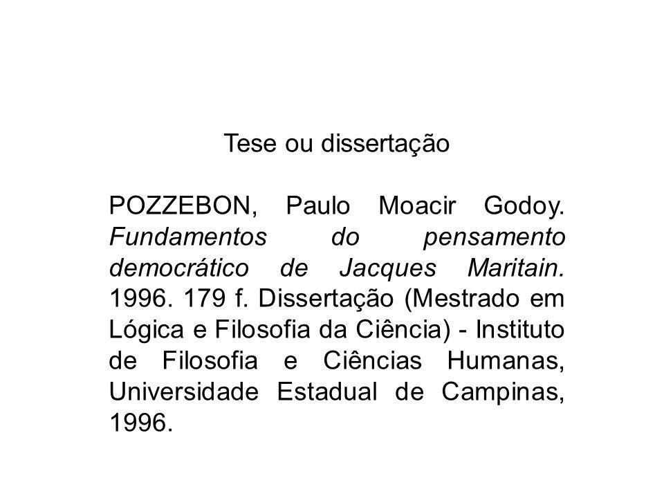 Tese ou dissertação
