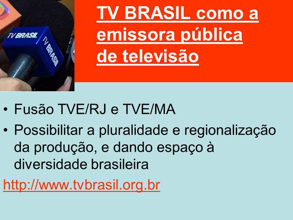 TV BRASIL como a emissora pública de televisão