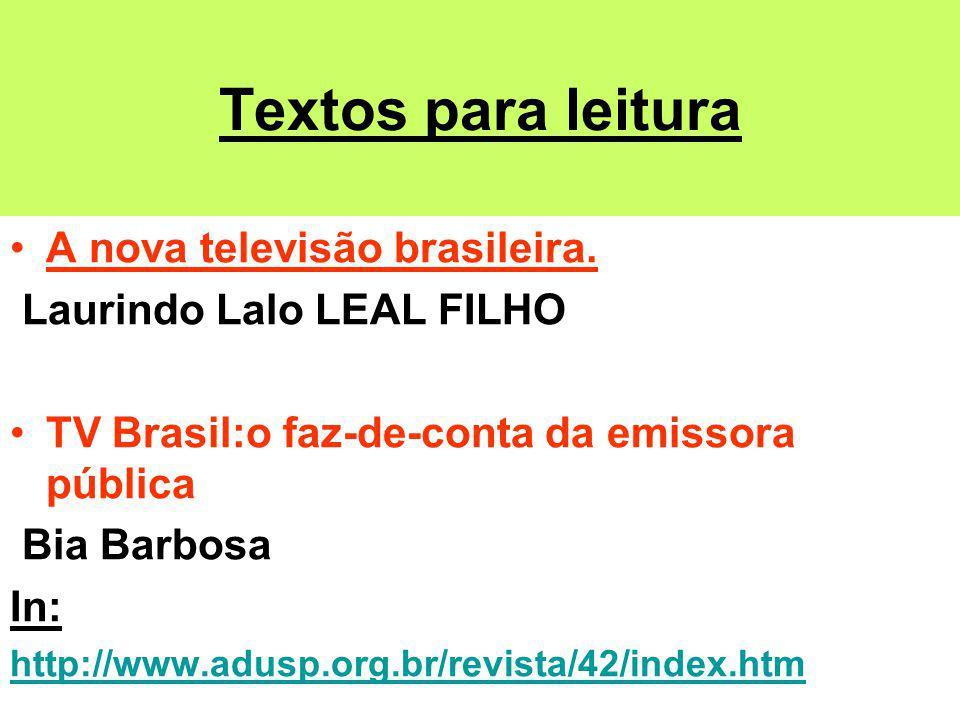 Textos para leitura A nova televisão brasileira.