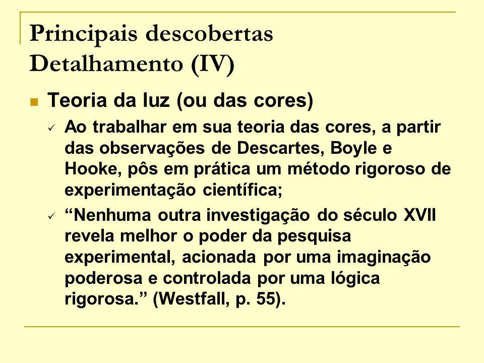 Principais descobertas Detalhamento (IV)
