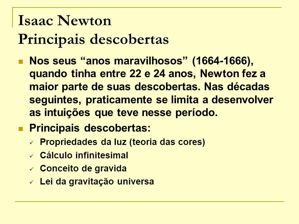 Isaac Newton Principais descobertas