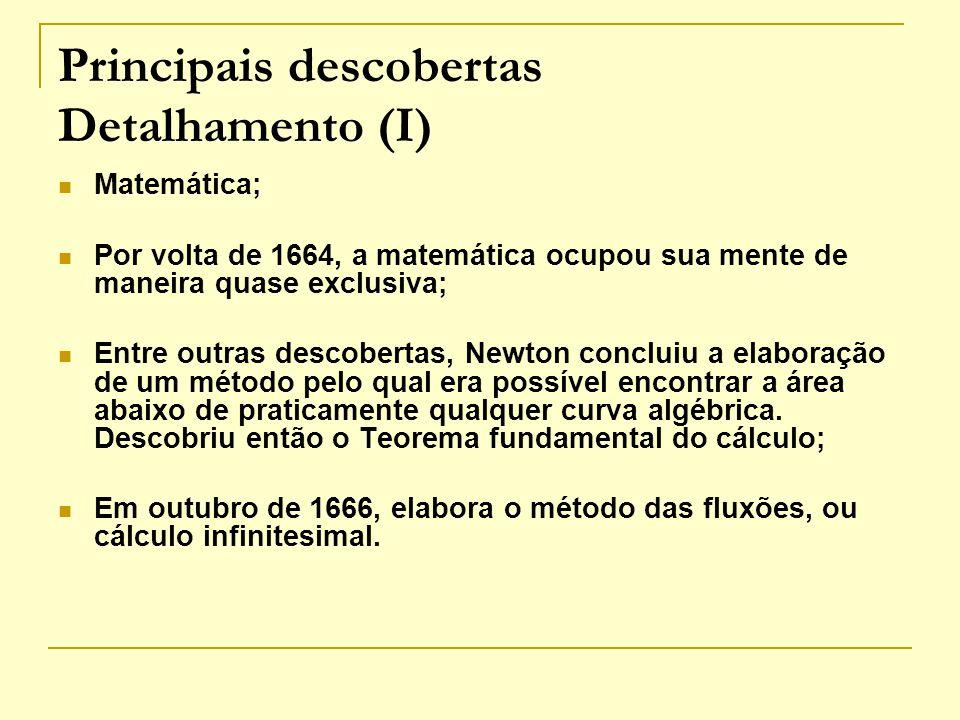 Principais descobertas Detalhamento (I)
