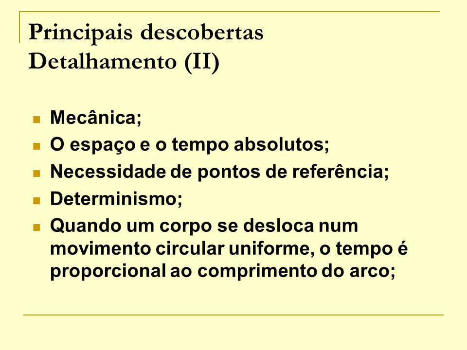Principais descobertas Detalhamento (II)