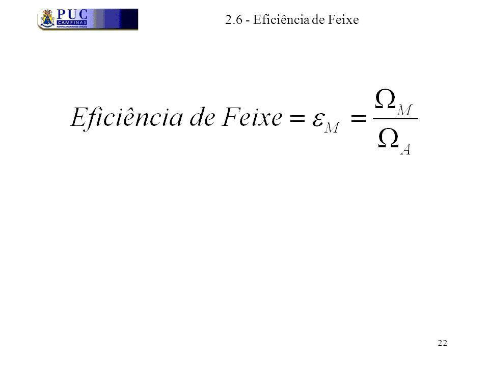 2.6 - Eficiência de Feixe