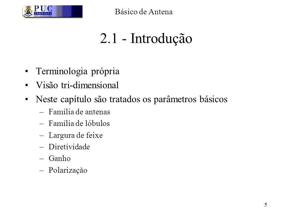 2.1 - Introdução Terminologia própria Visão tri-dimensional