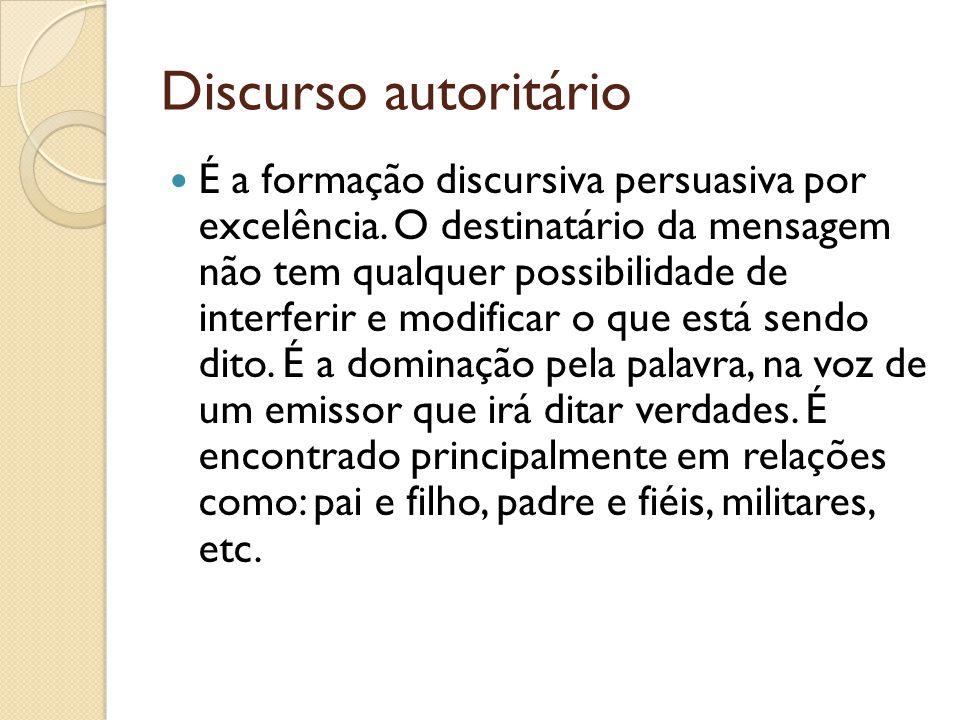 Discurso autoritário