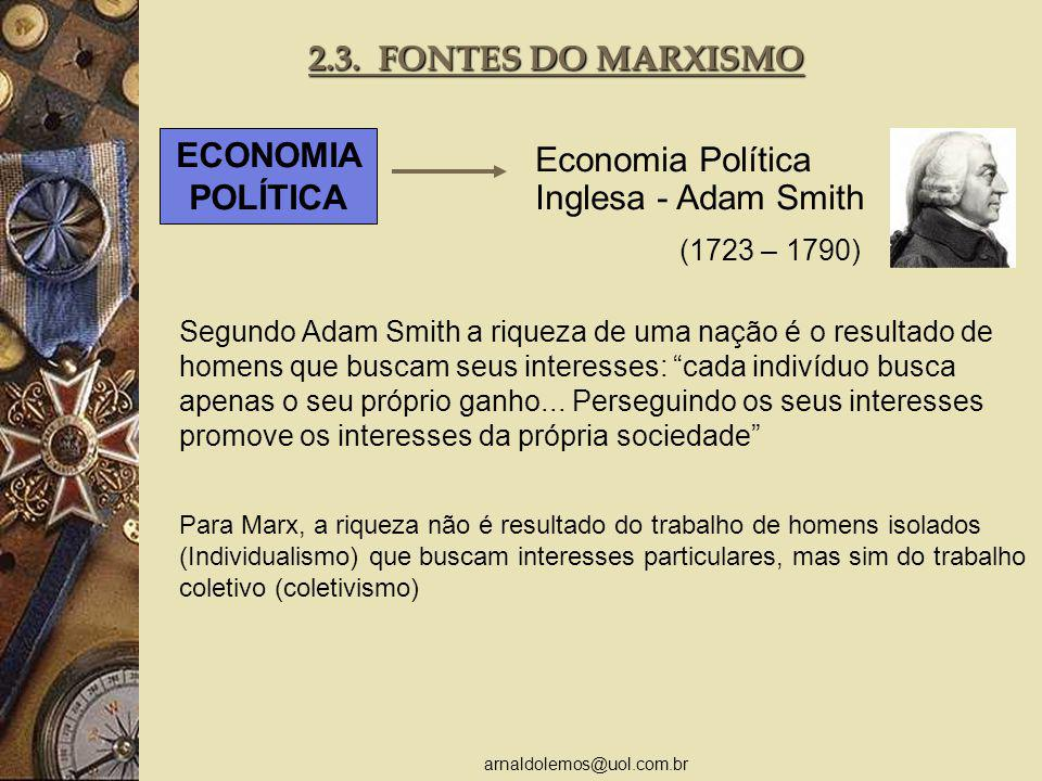 Economia Política Inglesa - Adam Smith