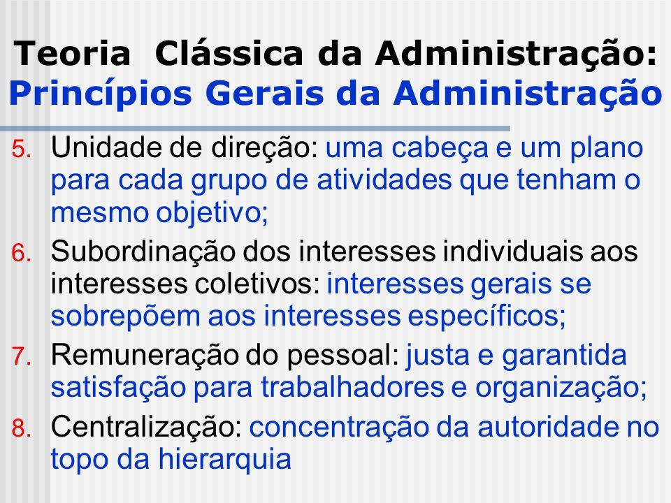 Teoria Clássica da Administração: Princípios Gerais da Administração
