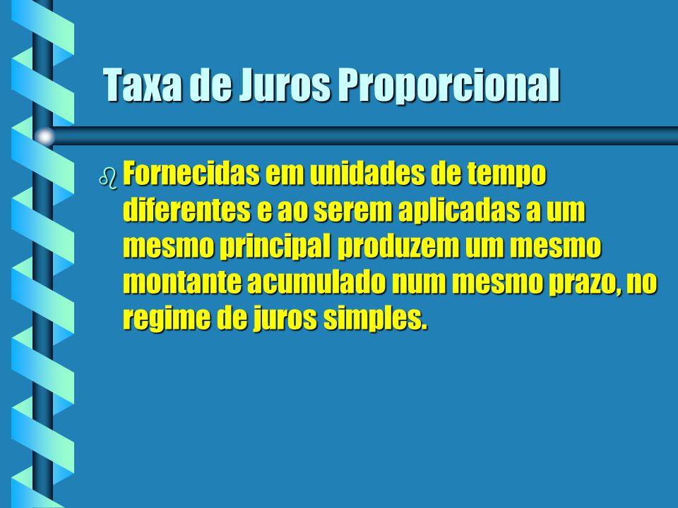 Taxa de Juros Proporcional