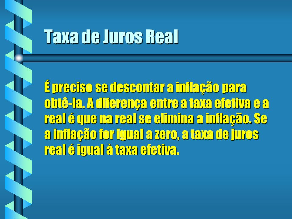 Taxa de Juros Real