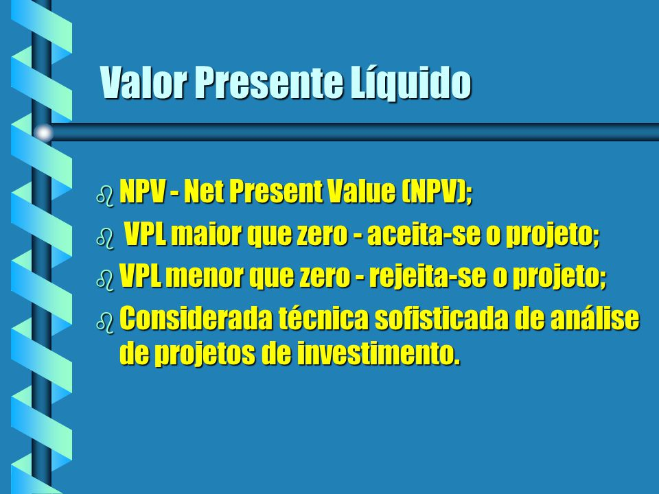 Valor Presente Líquido