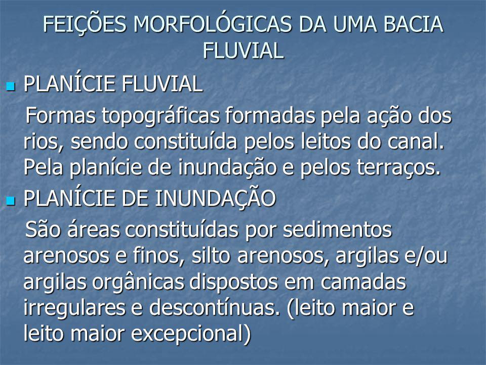 FEIÇÕES MORFOLÓGICAS DA UMA BACIA FLUVIAL
