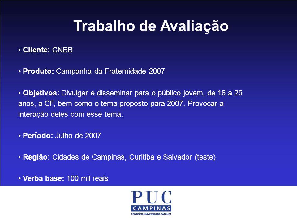 Trabalho de Avaliação • Cliente: CNBB
