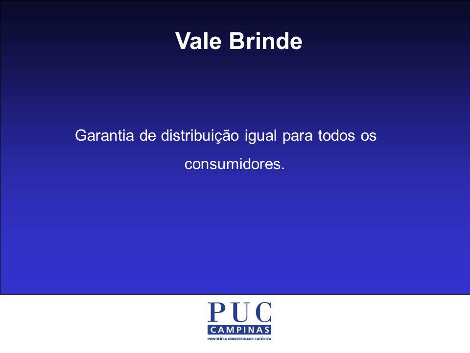 Garantia de distribuição igual para todos os consumidores.
