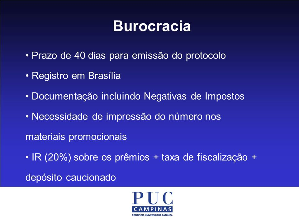Burocracia • Prazo de 40 dias para emissão do protocolo