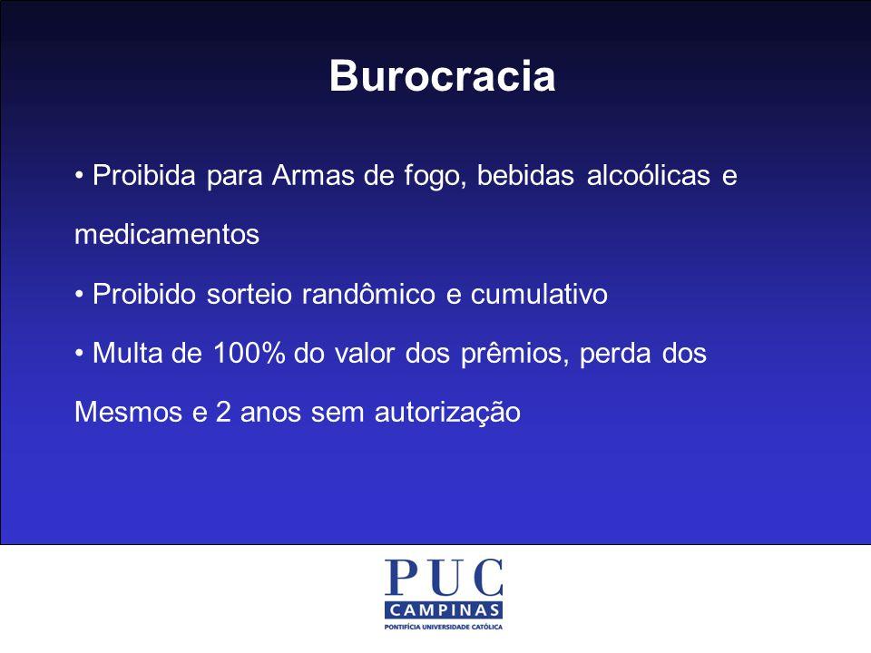 Burocracia • Proibida para Armas de fogo, bebidas alcoólicas e