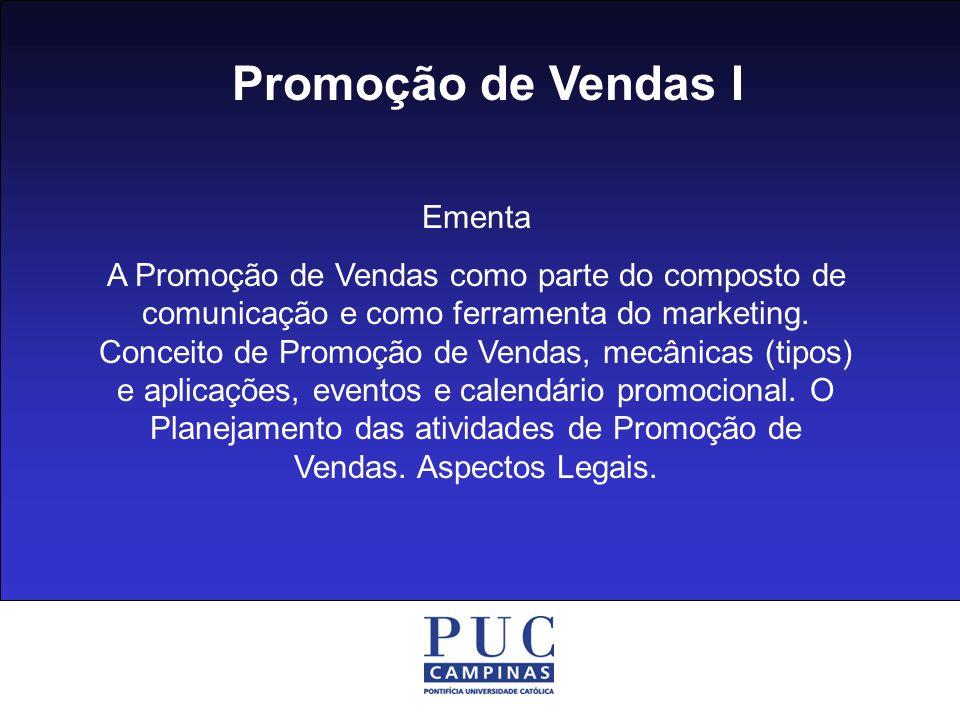 Promoção de Vendas I Ementa