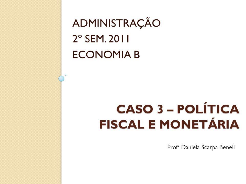 Caso 3 – política fiscal e monetária