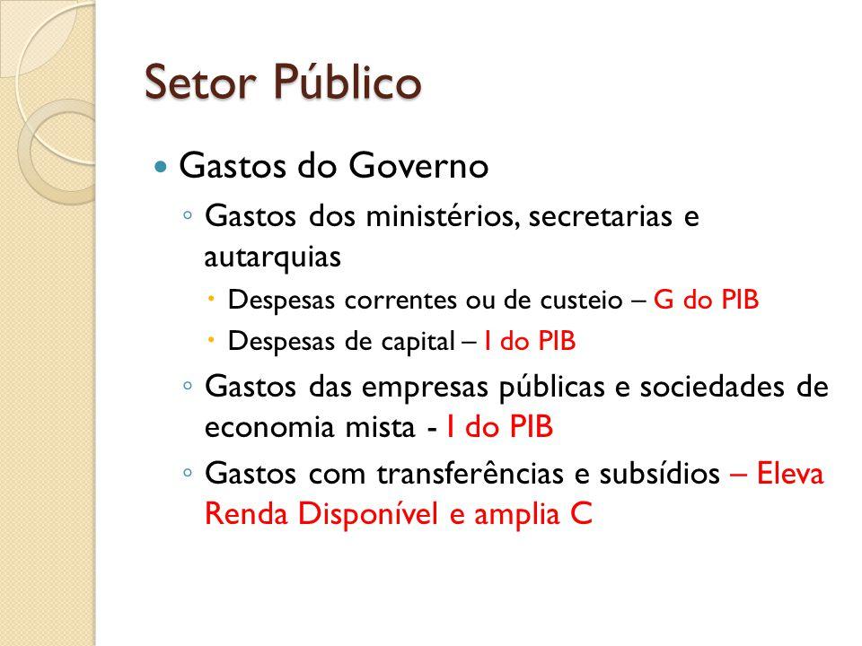 Setor Público Gastos do Governo