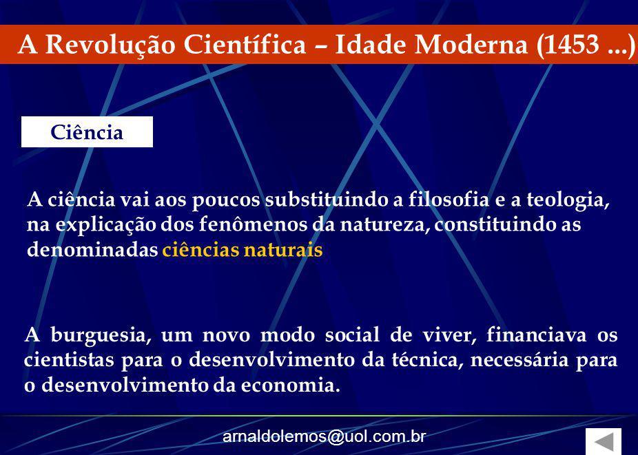 A Revolução Científica – Idade Moderna (1453 ...)