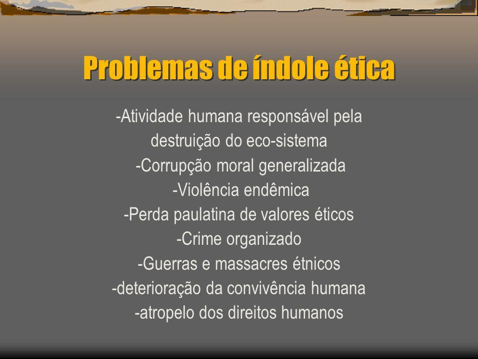 Problemas de índole ética