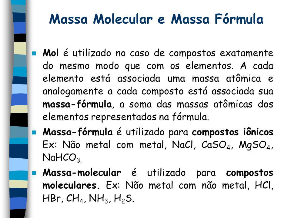 Massa Molecular e Massa Fórmula