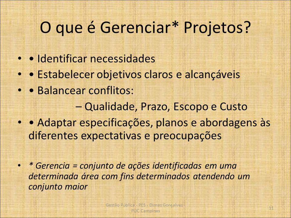 O que é Gerenciar* Projetos