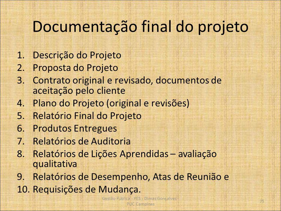Documentação final do projeto