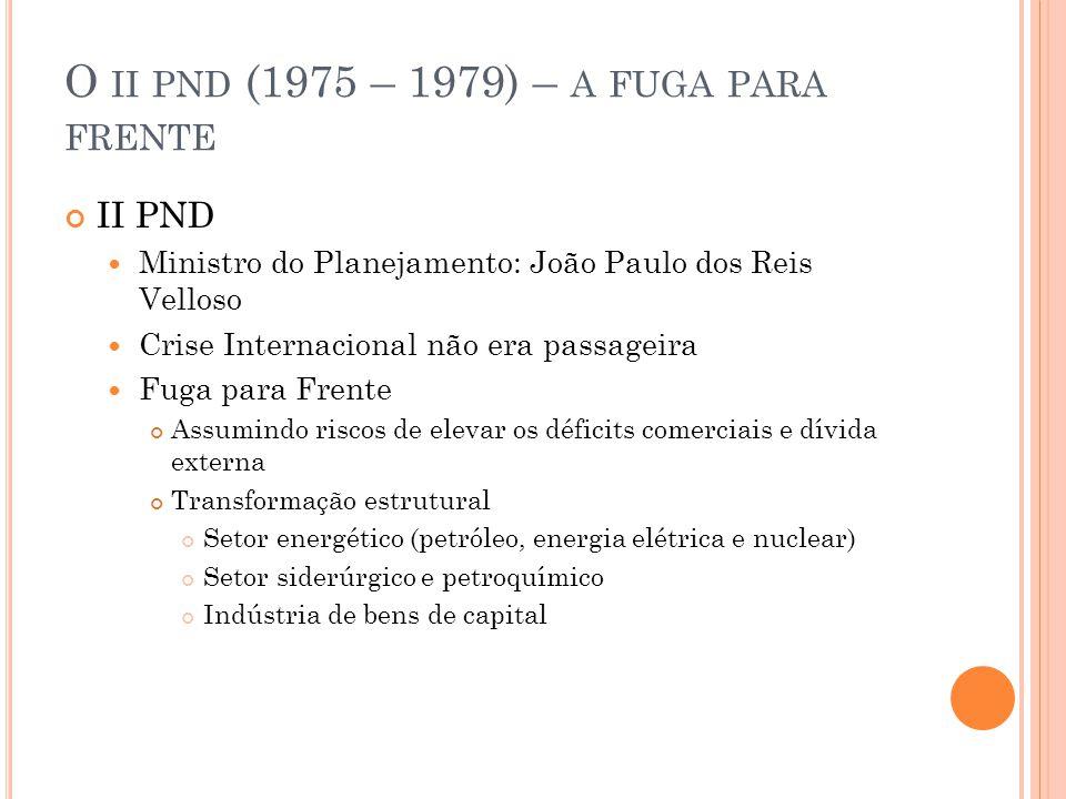 O ii pnd (1975 – 1979) – a fuga para frente