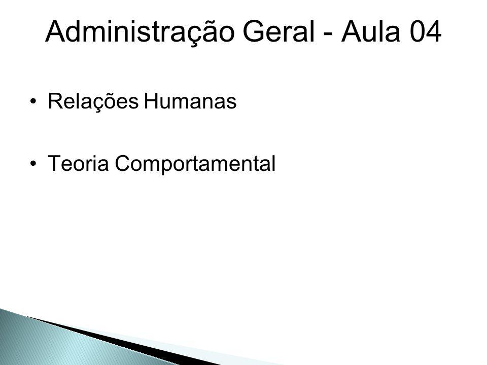 Administração Geral - Aula 04