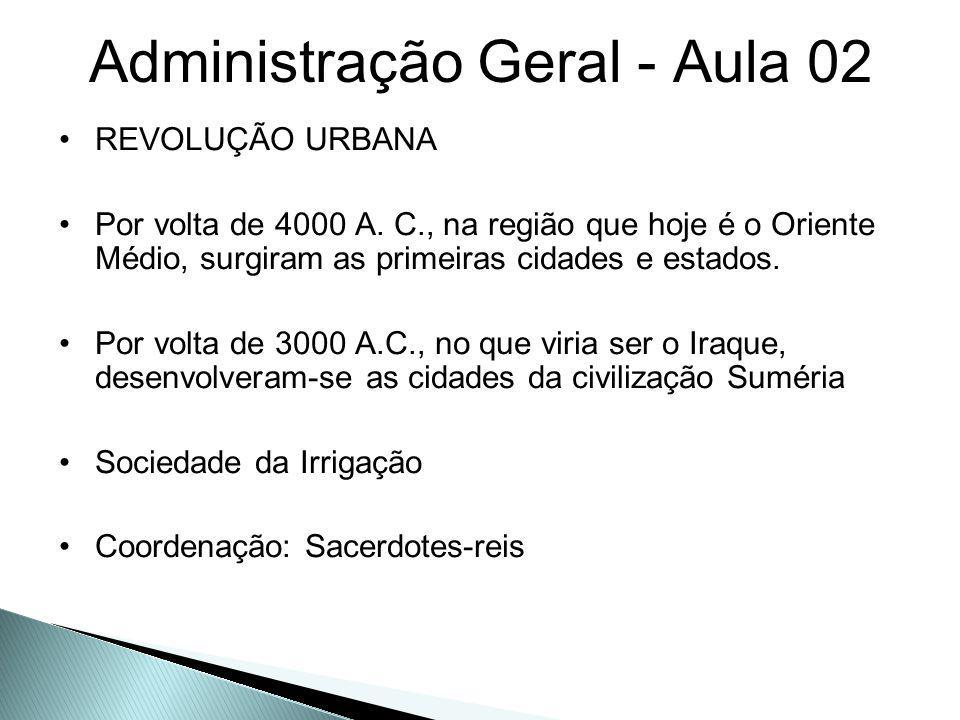 Administração Geral - Aula 02