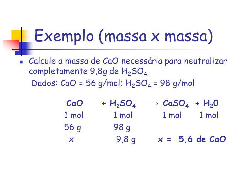 Exemplo (massa x massa)