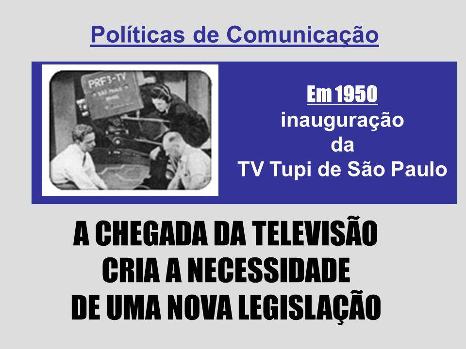 A CHEGADA DA TELEVISÃO CRIA A NECESSIDADE DE UMA NOVA LEGISLAÇÃO
