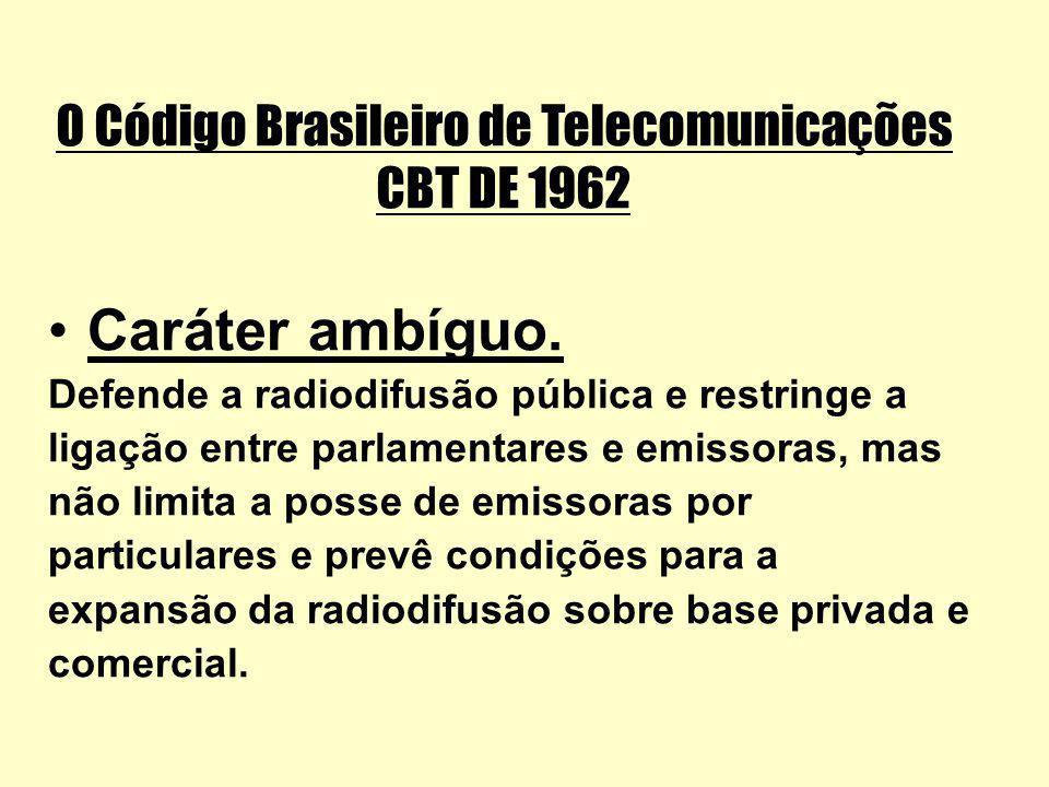 O Código Brasileiro de Telecomunicações