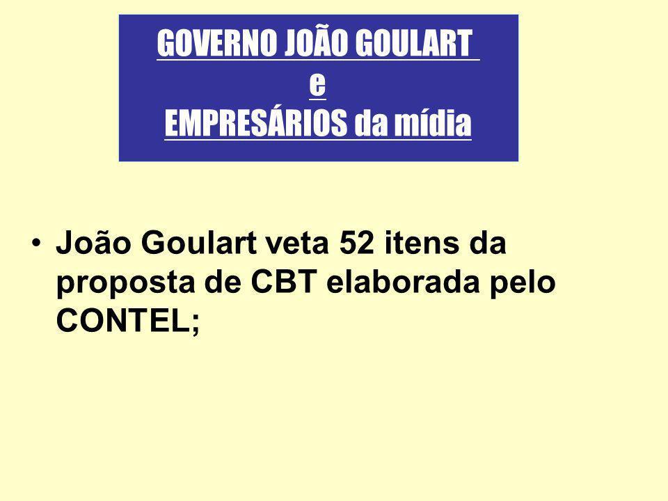GOVERNO JOÃO GOULART e EMPRESÁRIOS da mídia