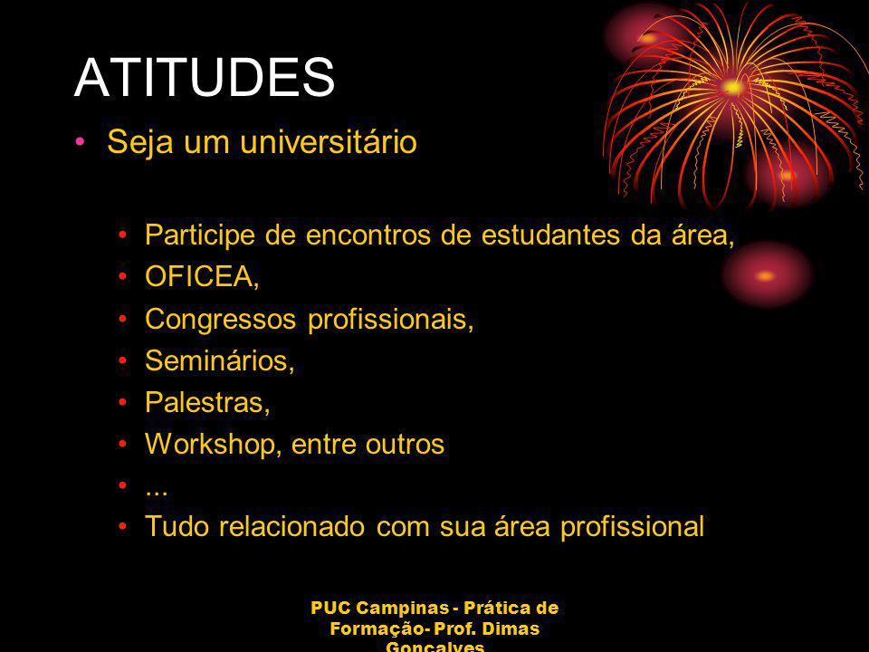 PUC Campinas - Prática de Formação- Prof. Dimas Gonçalves