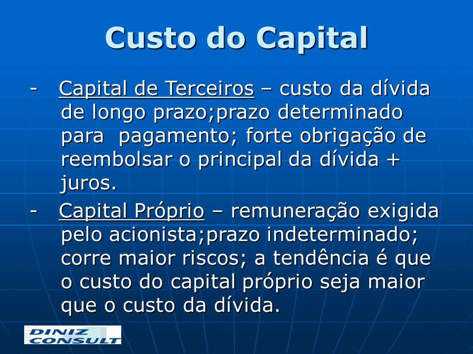 Custo do Capital