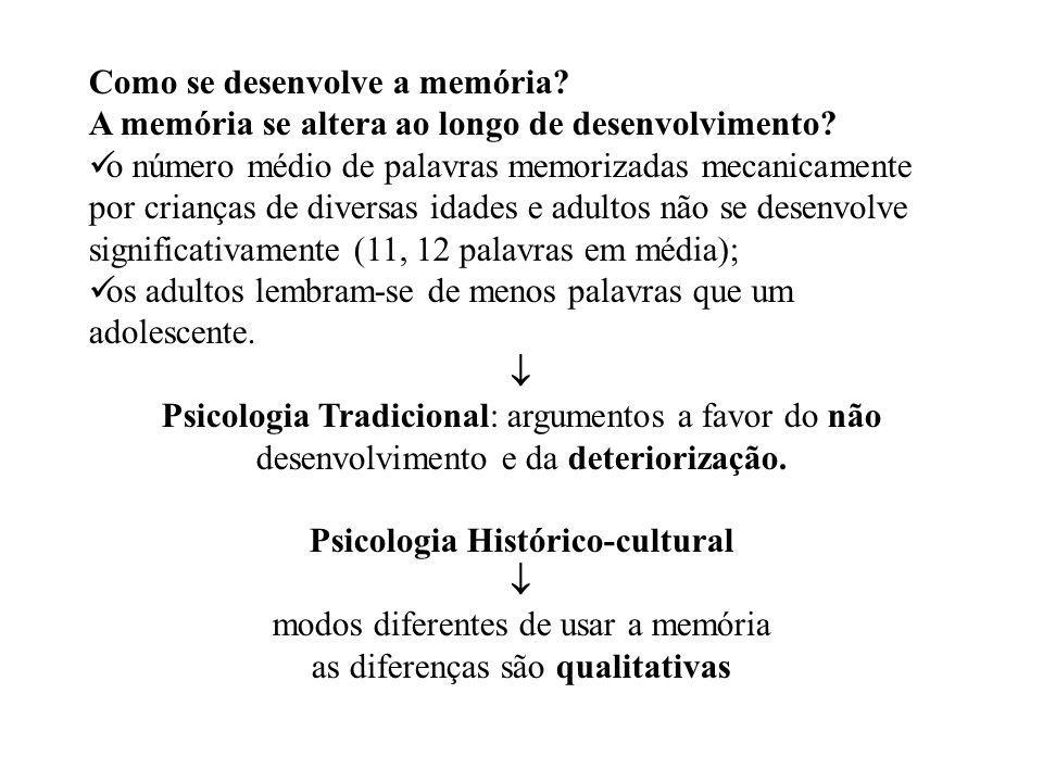 Como se desenvolve a memória