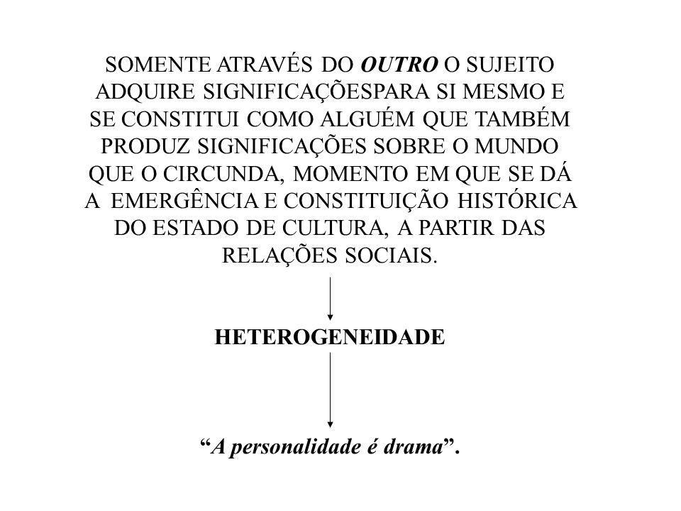 A personalidade é drama .