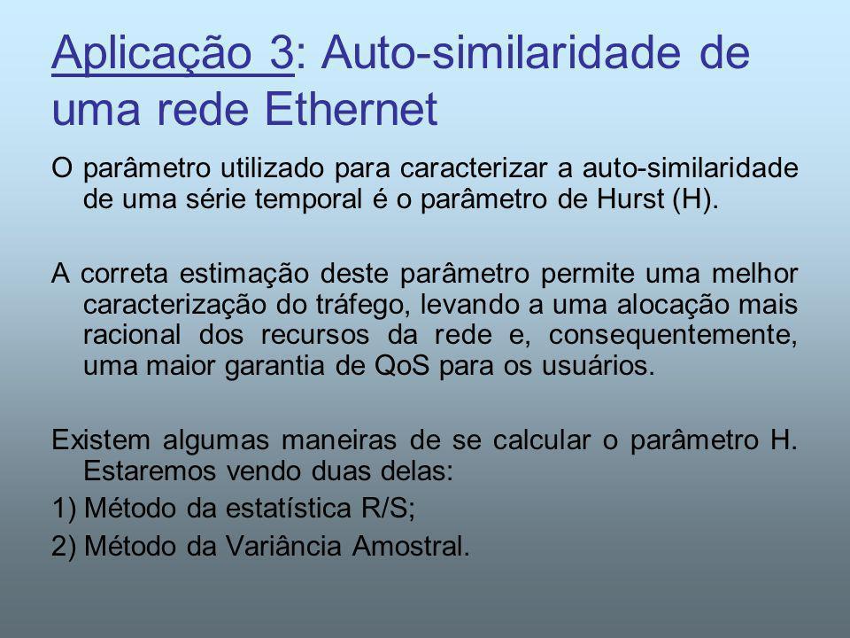 Aplicação 3: Auto-similaridade de uma rede Ethernet
