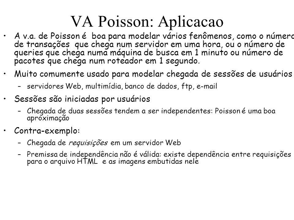 VA Poisson: Aplicacao