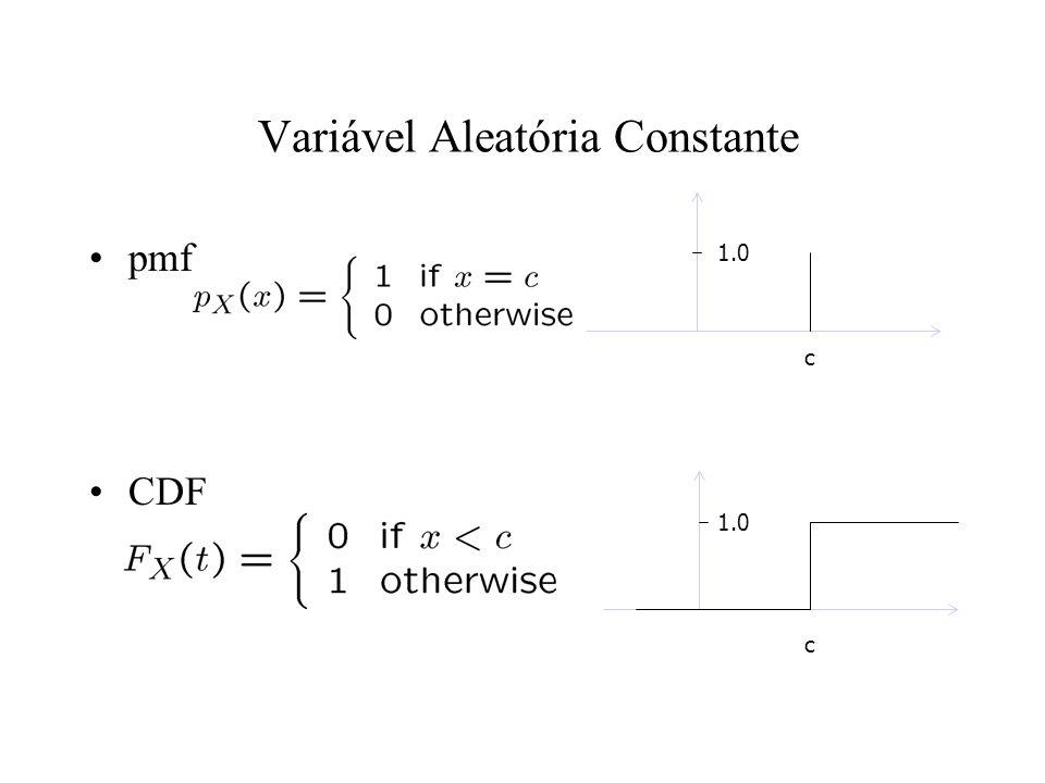 Variável Aleatória Constante