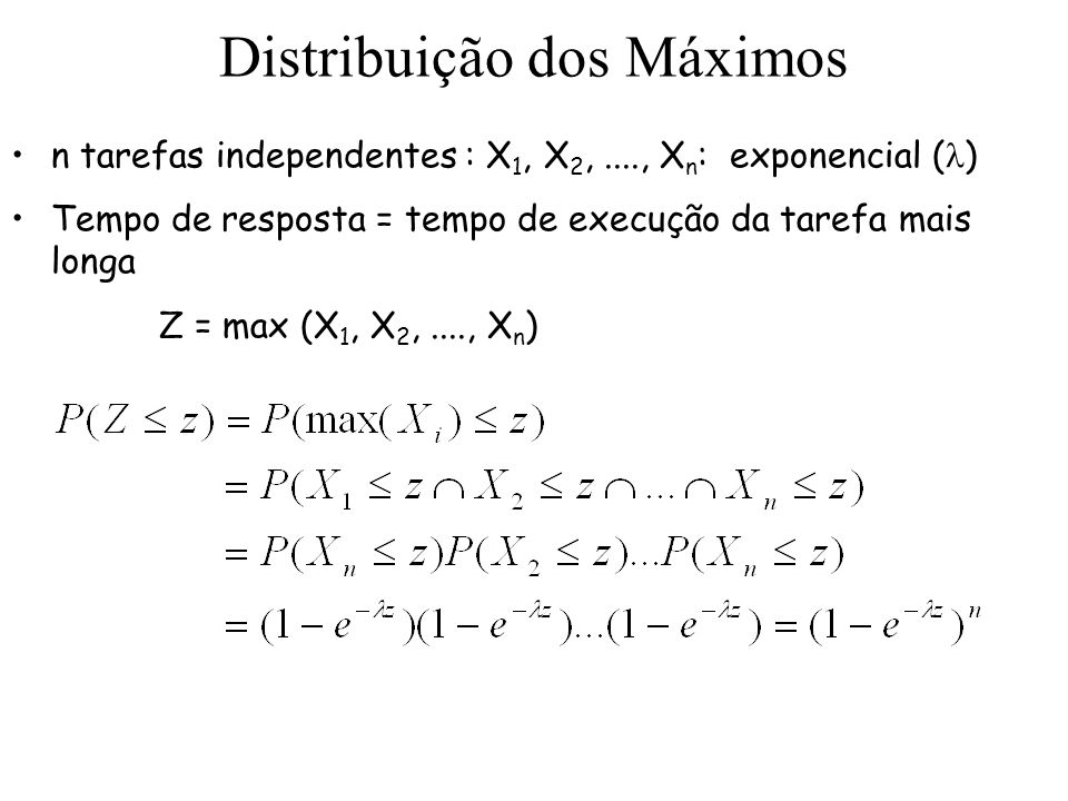 Distribuição dos Máximos