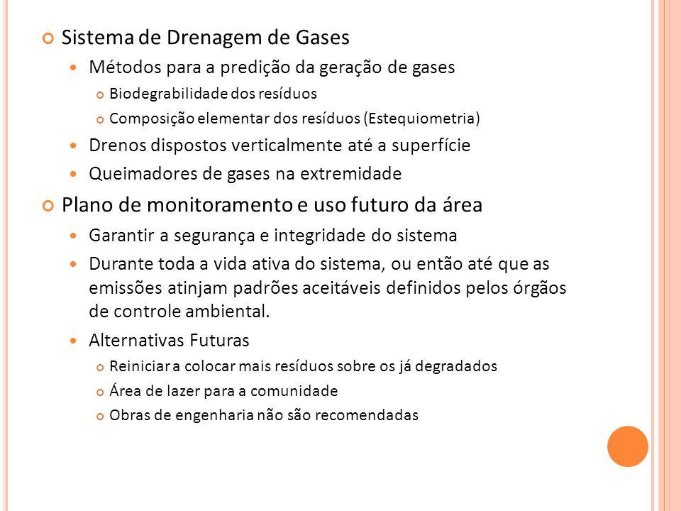 Sistema de Drenagem de Gases